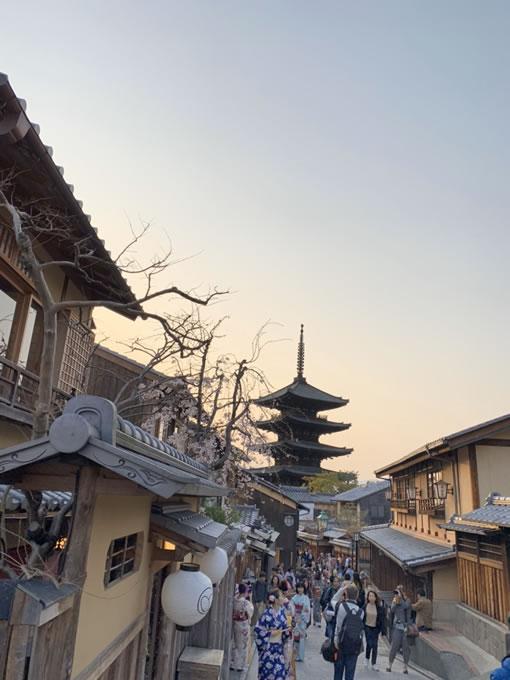 京都清水寺の参道